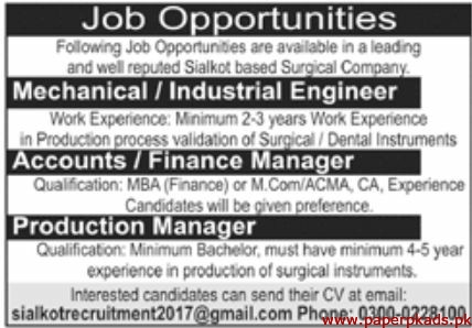Surgical Company Jobs 2019 Latest