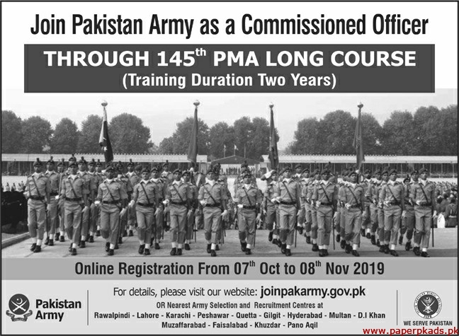 Join Pakistan Army as a Commission Jobs 2019 Latest