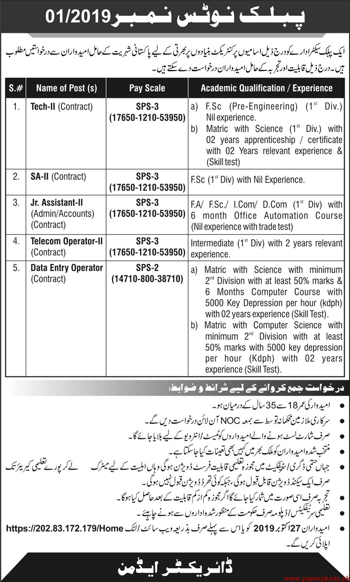Public Sector Organization Jobs 2019 Latest