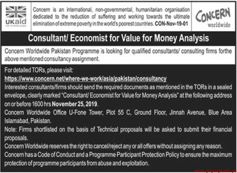 Concern International non-governmental Humanitarian Organization Jobs 2019 Latest