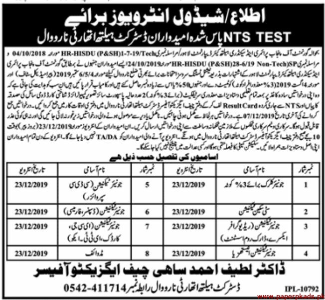 Government of the Punjab Primary & Secondary Education Department Jobs 2019 Latest