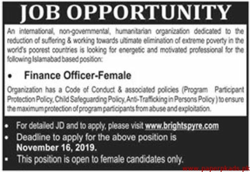 International Non-Governmental Humanitarian Organization Jobs 2019 Latest