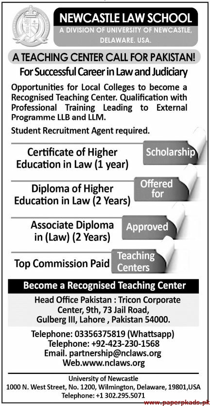 NEWCASTLE LAW College Jobs 2019 Latest