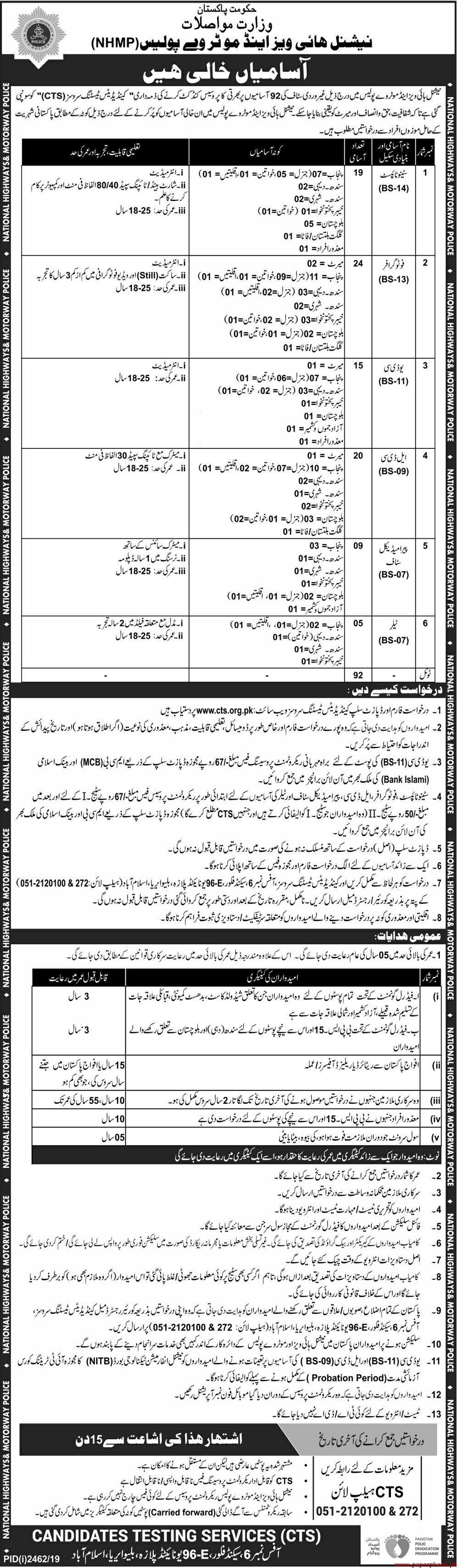 National Highways & Motorway Police Jobs 2019 Latest