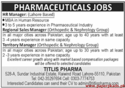 Pharmaceuticals Jobs 2019 Latest