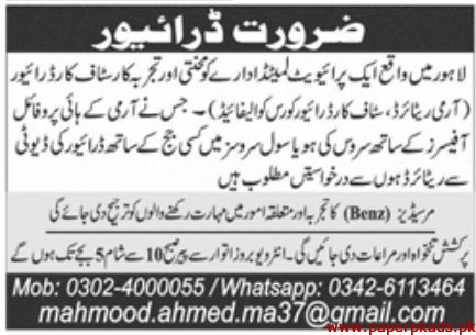 Private Limited Department Jobs 2019 Latest
