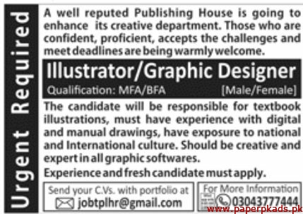 Reputed Publishing House Jobs 2019 Latest