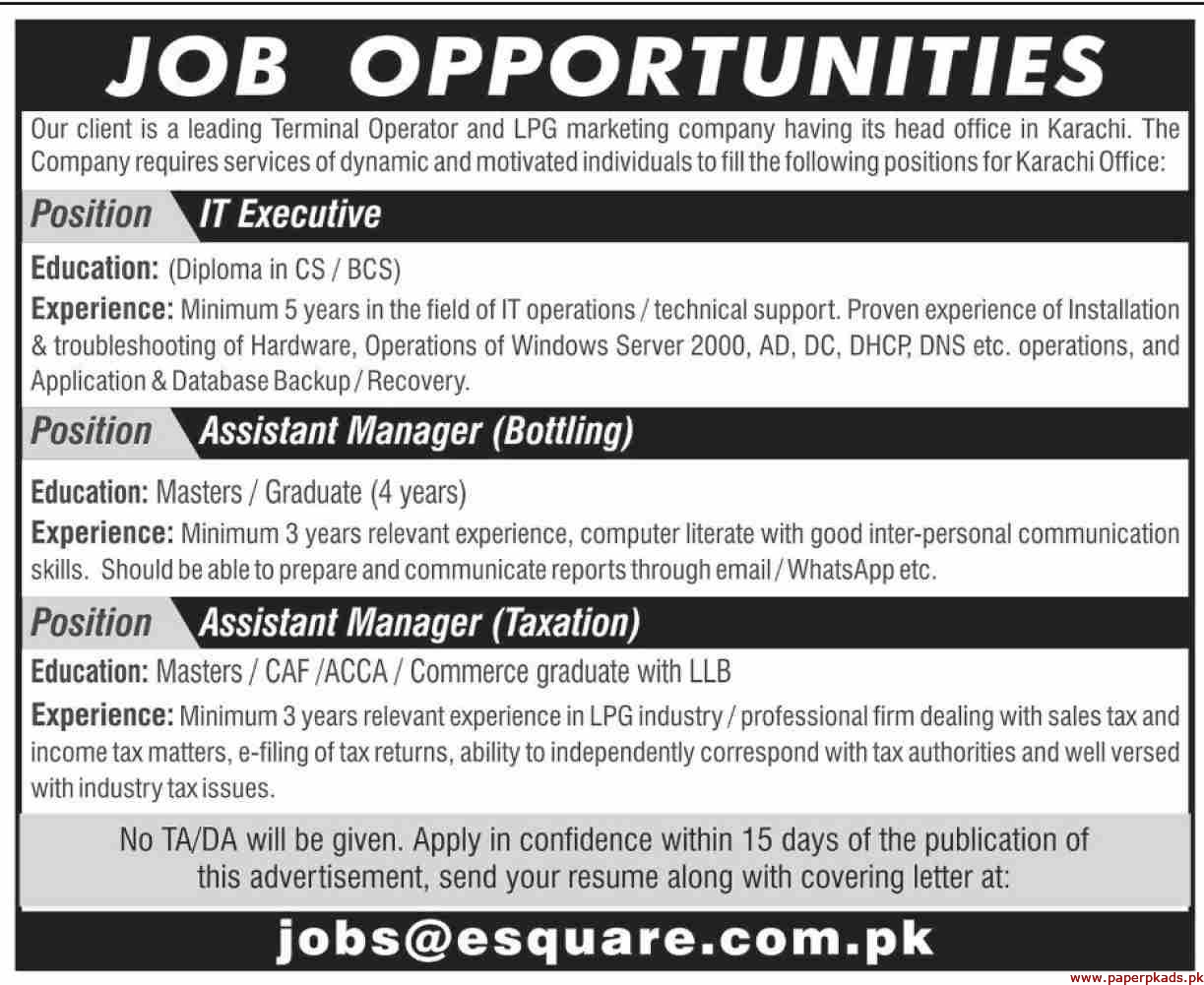 LPG Marketing Company Jobs 2019 Latest