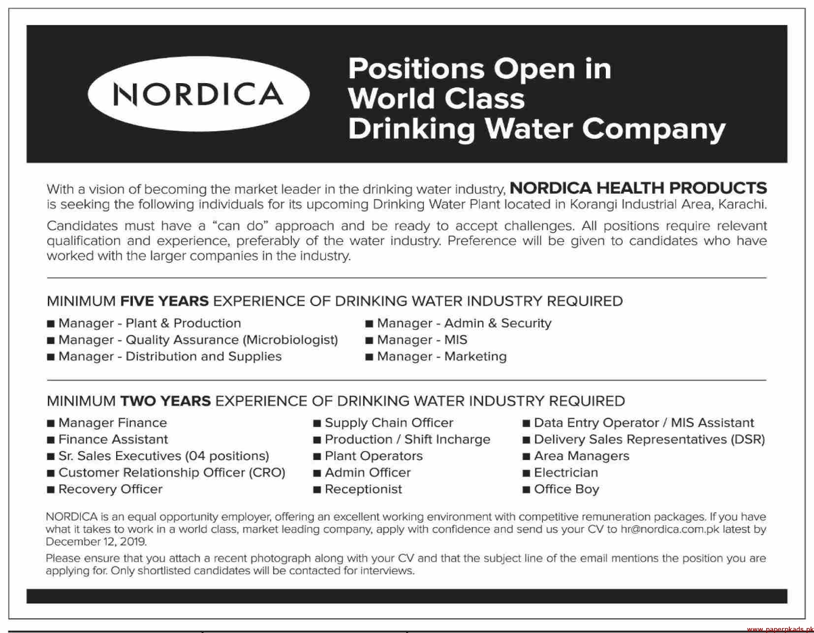 NORDICA Health Products Jobs 2019 Latest