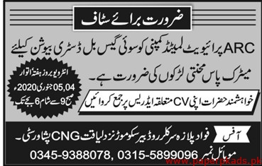 ARC Private Limited Company Jobs 2020 Latest