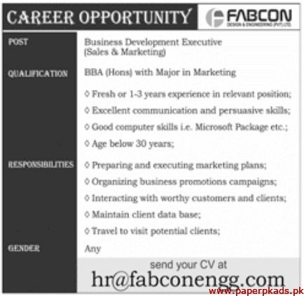 FABCON Engineering Pvt Ltd Jobs 2020 Latest