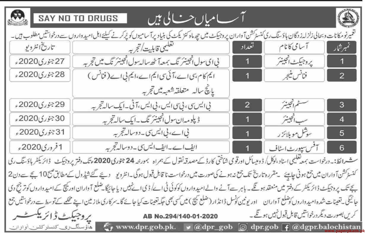 Government of Balochistan Jobs 2020 Latest