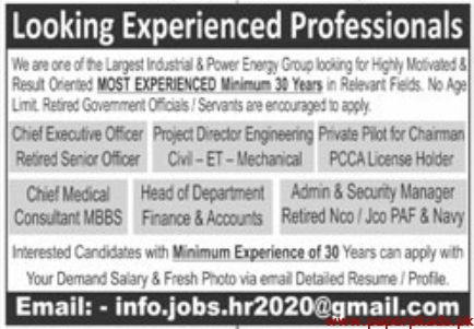 Largest Industrial & Power Energy Group Jobs 2020 Latest