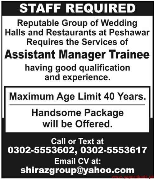 Reputable Group of Wedding Halls and Restaurants Jobs 2020 Latest