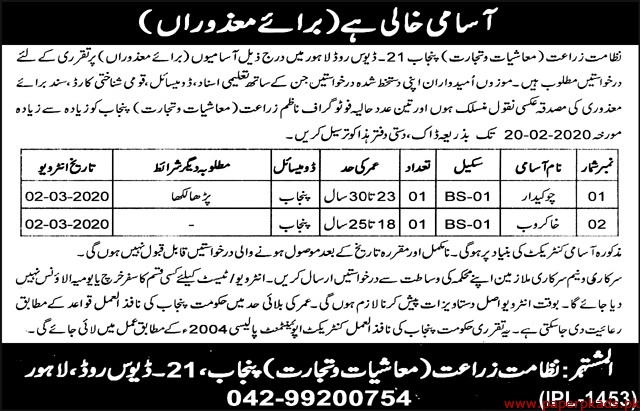 Agriculture Department Jobs 2020 Latest