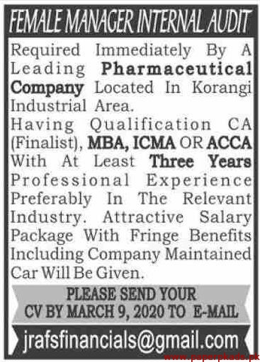 Pharmaceutical Company Jobs 2020 Latest