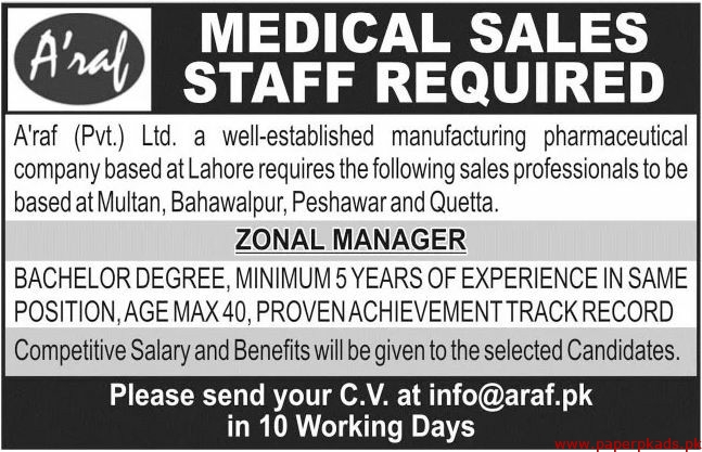 Araf Pvt Ltd Jobs 2020 Latest
