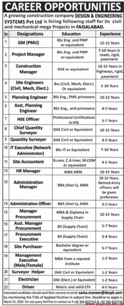 Design Engineering Systems Pvt Ltd Jobs 2020 Latest Paperads Com