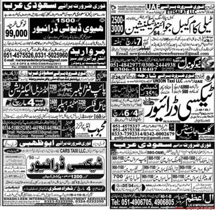 Express Newspaper Jobs 03 March 2020 Latest