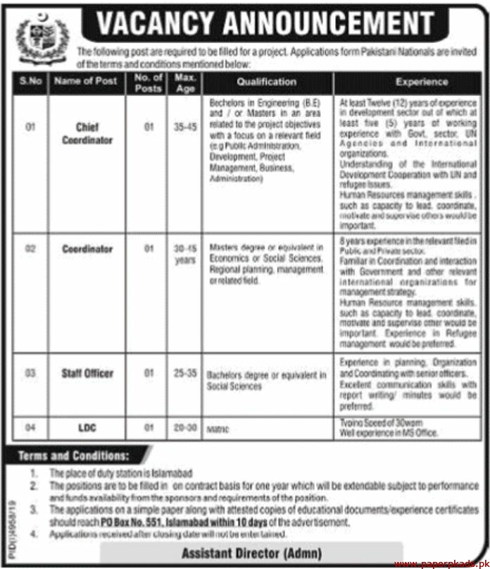 Government of Pakistan Jobs 2020 Latest