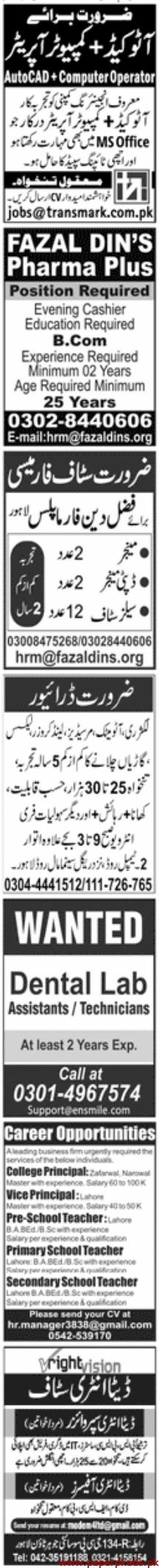 Jang Newspaper Jobs Paper Pk Jobs 24 March 2020 Latest