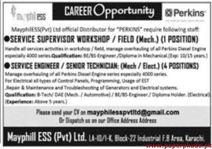 Mayphill ESS Pvt Ltd Jobs 2020 Latest