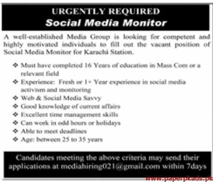 Media Group Jobs 2020 Latest