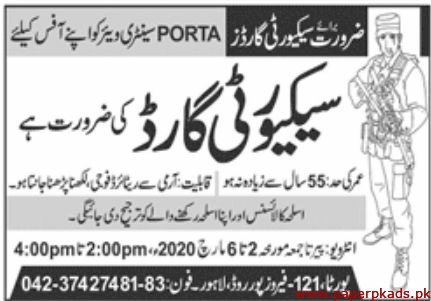 PORTA Sanitary Wares Jobs 2020 Latest