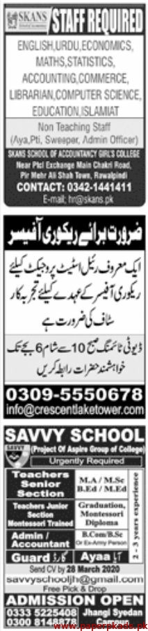 Paperpk Newspaper Jobs 24 March 2020 Latest