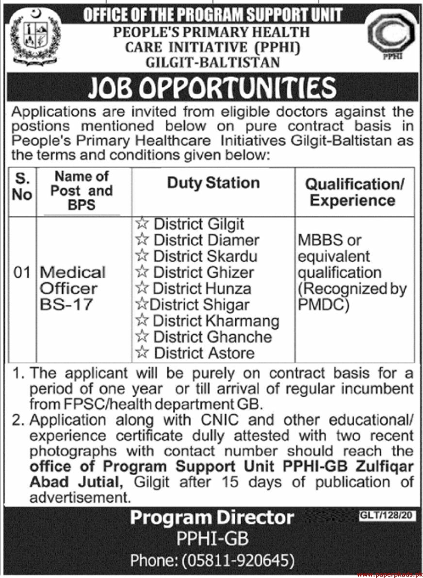 People's Primary Health Care Initiative PPHI Jobs 2020 Latest
