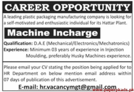 Plastic Packaging Manufacturing Company Jobs 2020 Latest