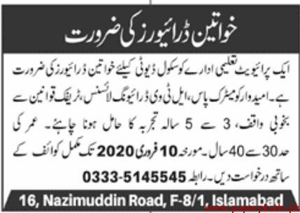 Private Education Sector Jobs 2020 Latest