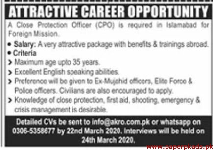 Private Sector Islamabad Jobs 2020 Latest