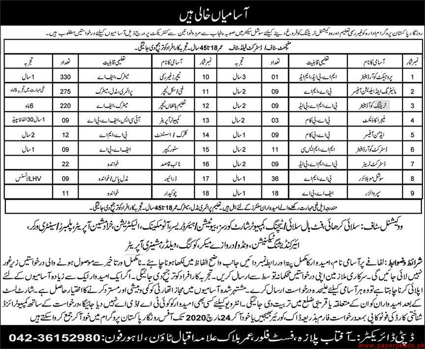 Rozgar Pakistan Programe Jobs 2020 Latest