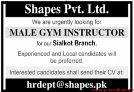 Shapes Pvt Ltd Jobs 2020 Latest