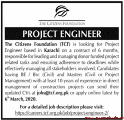 The Citizens Foundation Jobs 2020 Latest