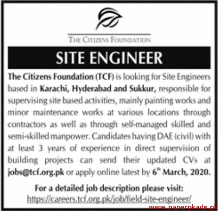 The Citizens Foundation TCF Jobs 2020 Latest