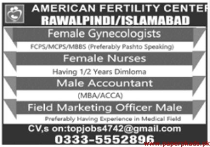 American Fertility Center Jobs 2020 May