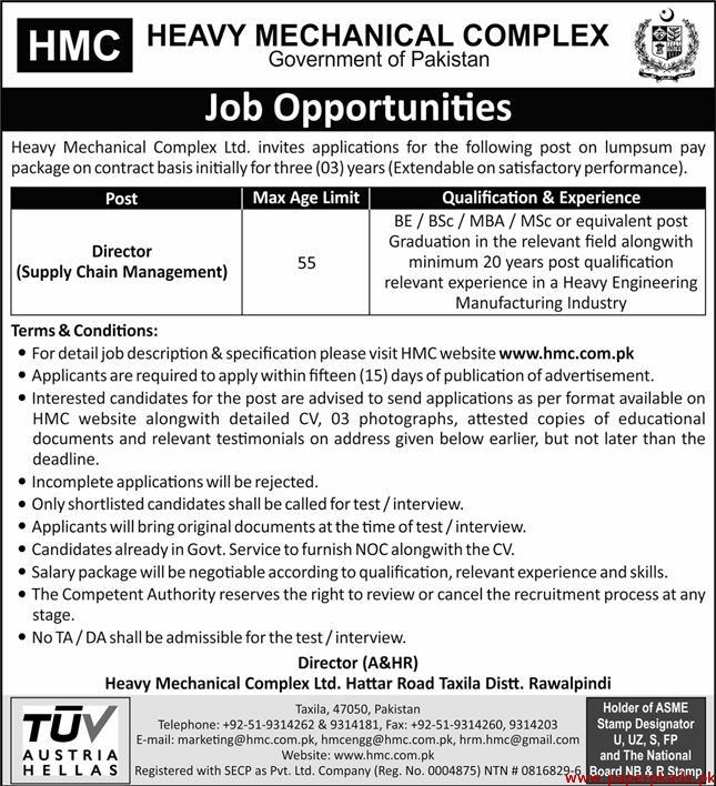Heavy Mechanical Complex HMC Jobs May 2020 Latest
