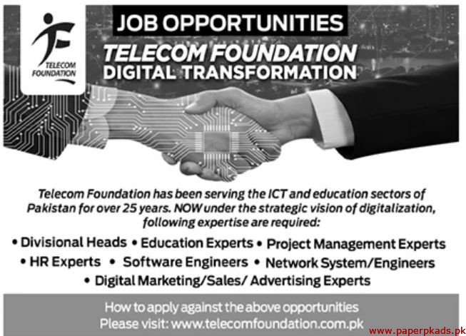 Telecom Foundation TF Jobs 2020 Latest