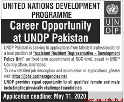 UNDP Pakistan Jobs 2020 Latest