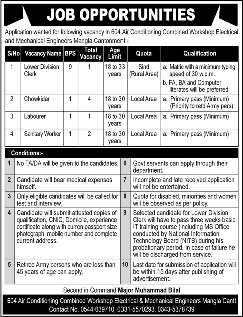 604 Air Conditioning Combined Workshop Jobs June 2020