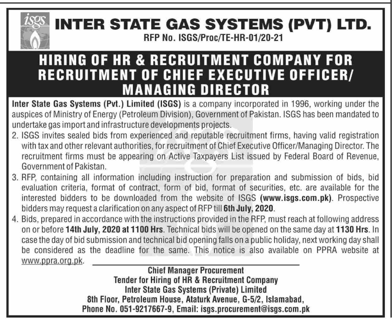 Inter State Gas Systems Pvt Limited Jobs June 2020