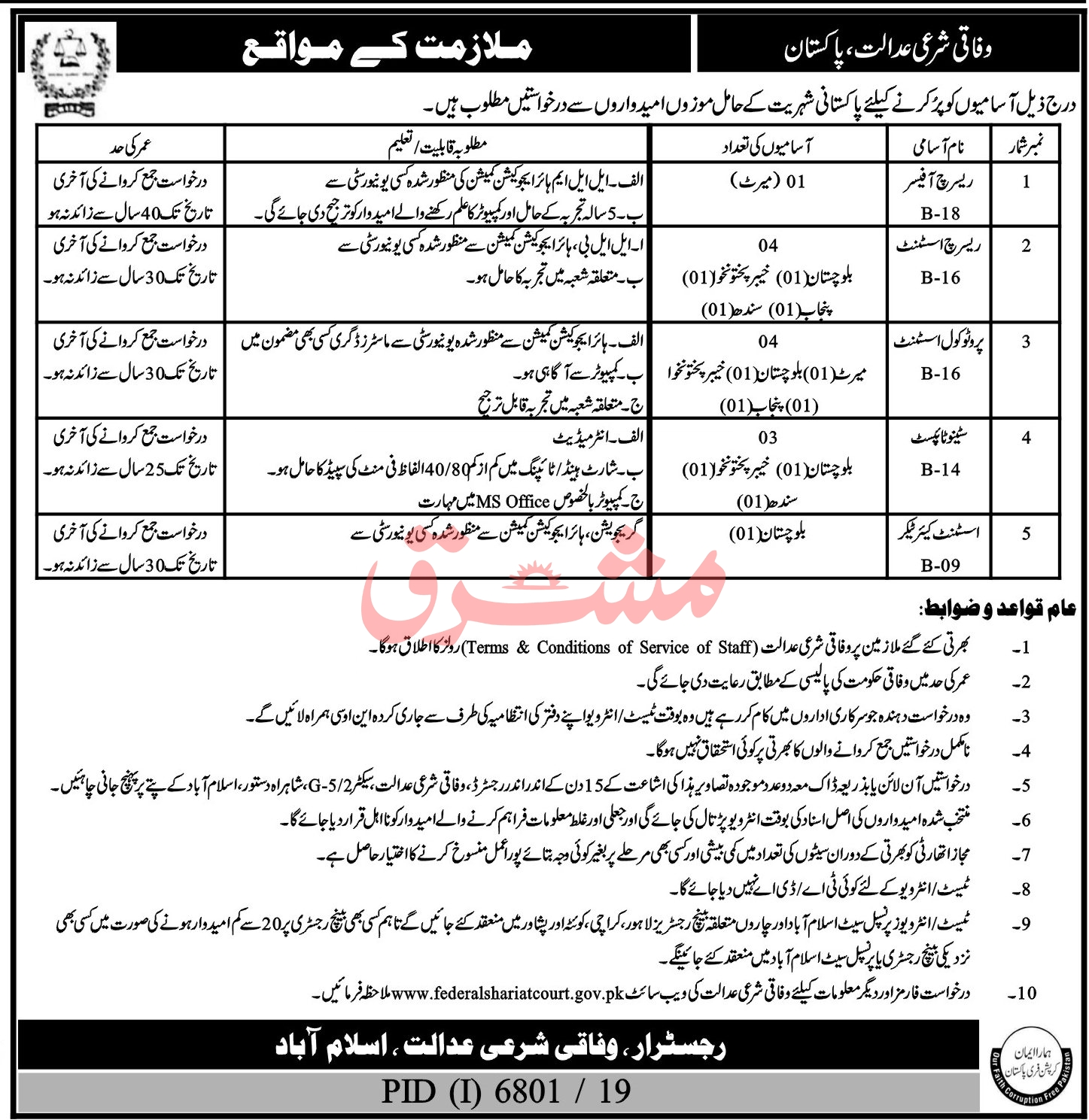 Islamabad Court Jobs June 2020