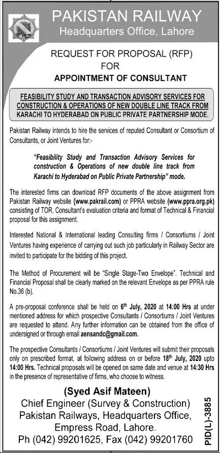 Pakistan Railways Jobs June 2020