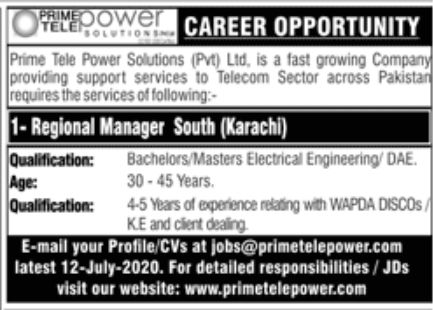 Prime Tele Power Solutions Pvt Ltd Jobs June 2020