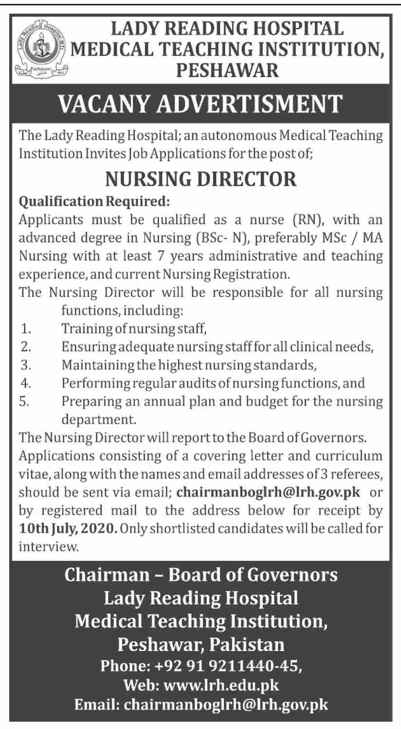 The Lady Reading Hospital Jobs June 2020