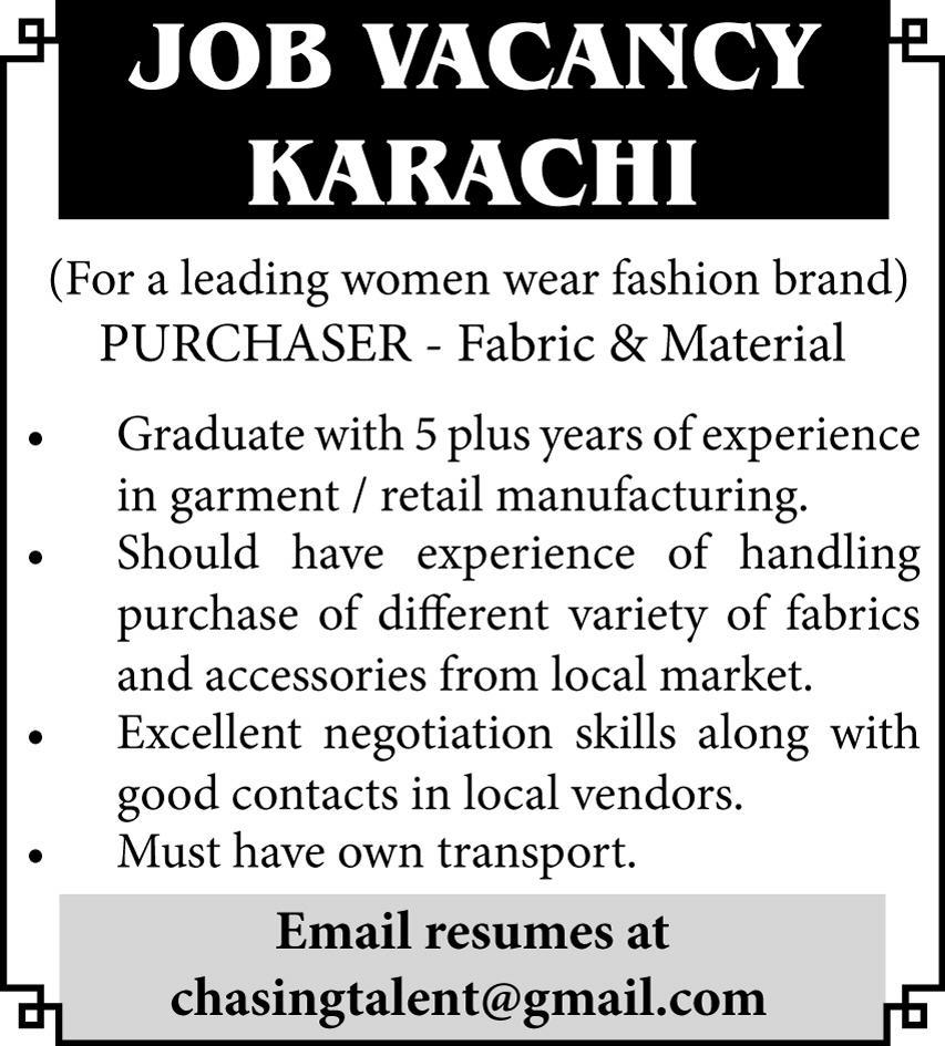 Fashion Brand Jobs July 2020