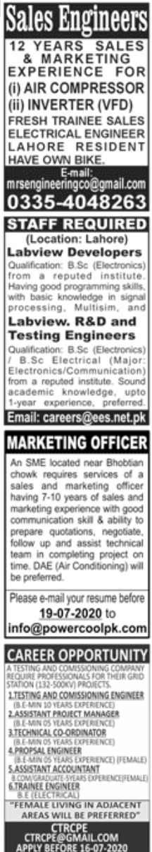 Jang Newspaper Jobs Paperpk Jobs 12 June 2020