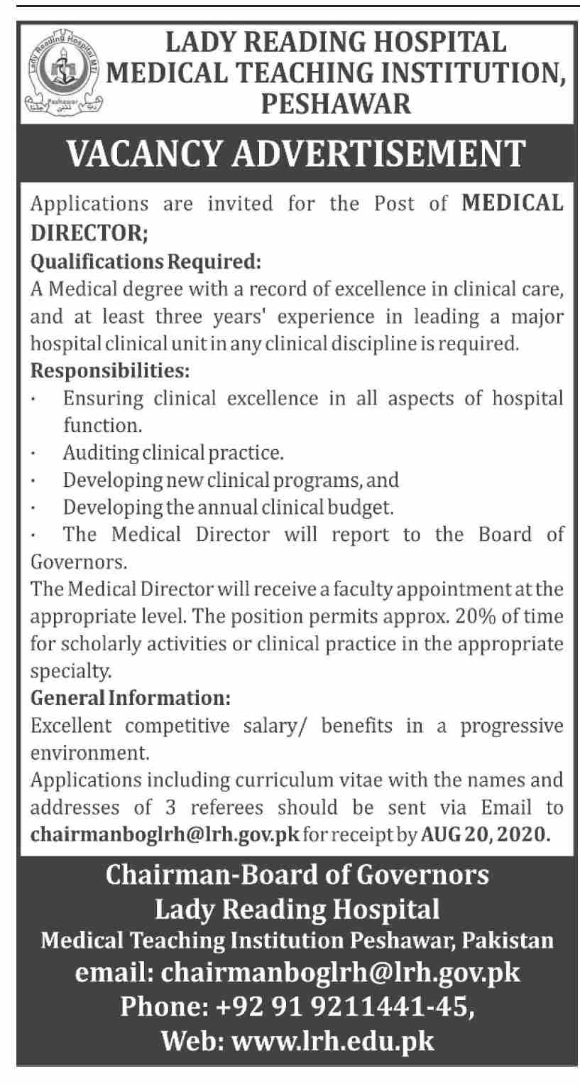 Lady Reading Hospital Jobs July 2020